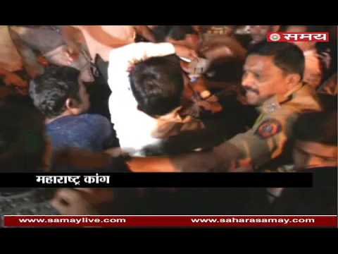 Thrown eggs and ink on Ashok Chavan in an election rally in Nagpur