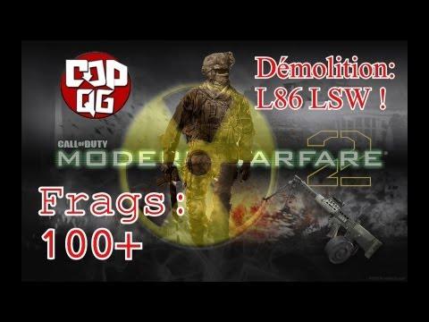 MODERN WARFARE 2 Massacre en démolition sur Afghan: Tentative bombe nucléaire au L86 LSW !
