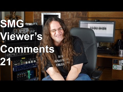 Smg Viewer's Comments #21 - Guitar cabs, drum sounds & that purple shirt! | SpectreSoundStudios