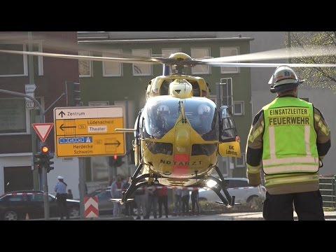 2x Rettungshubschrauber 2x lebensbedrohliche Kohlenmonoxidvergiftung - RTH und ITH im Einsatz
