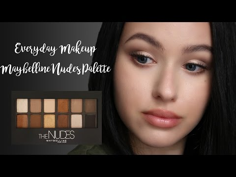 Everyday Makeup || Maybelline Nudes Palette