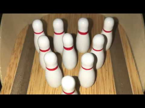 Hoomore Mini Wooden Desktop Bowling Game Office Toys
