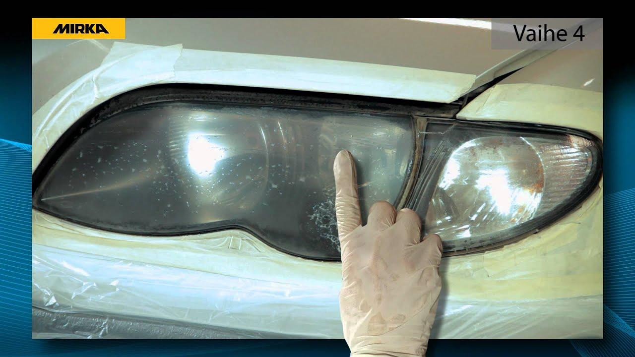 ajovalojen kiillotus hammastahnalla