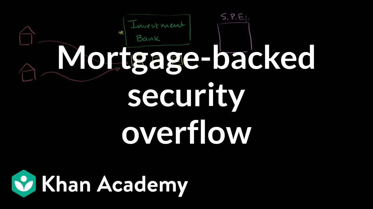 Mortgage-backed security overview (video) | Khan Academy