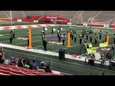 Colorguard piece--2014 Bulldog Stadium, California State University, Fresno in Fresno, California.