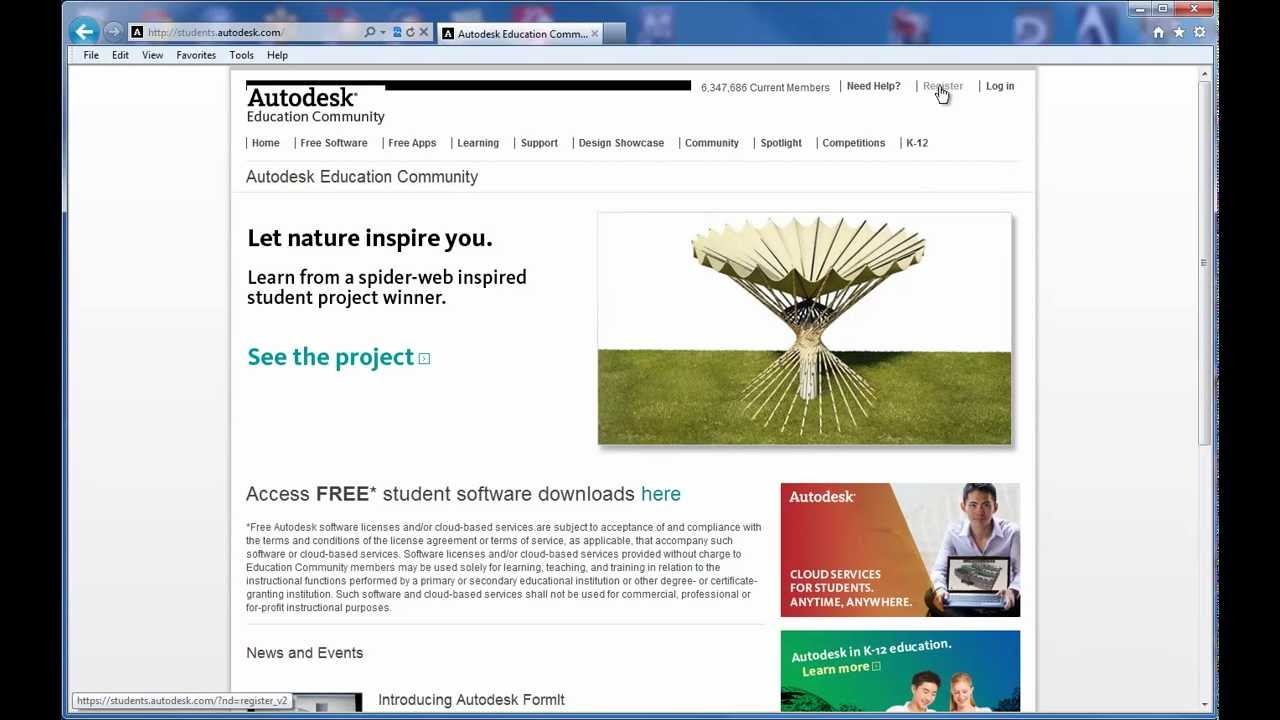 Free Autodesk Software At The Autodesk Education Community