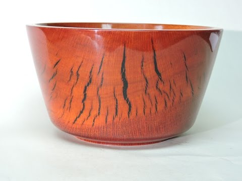 Wood Turning a Tiger Bowl