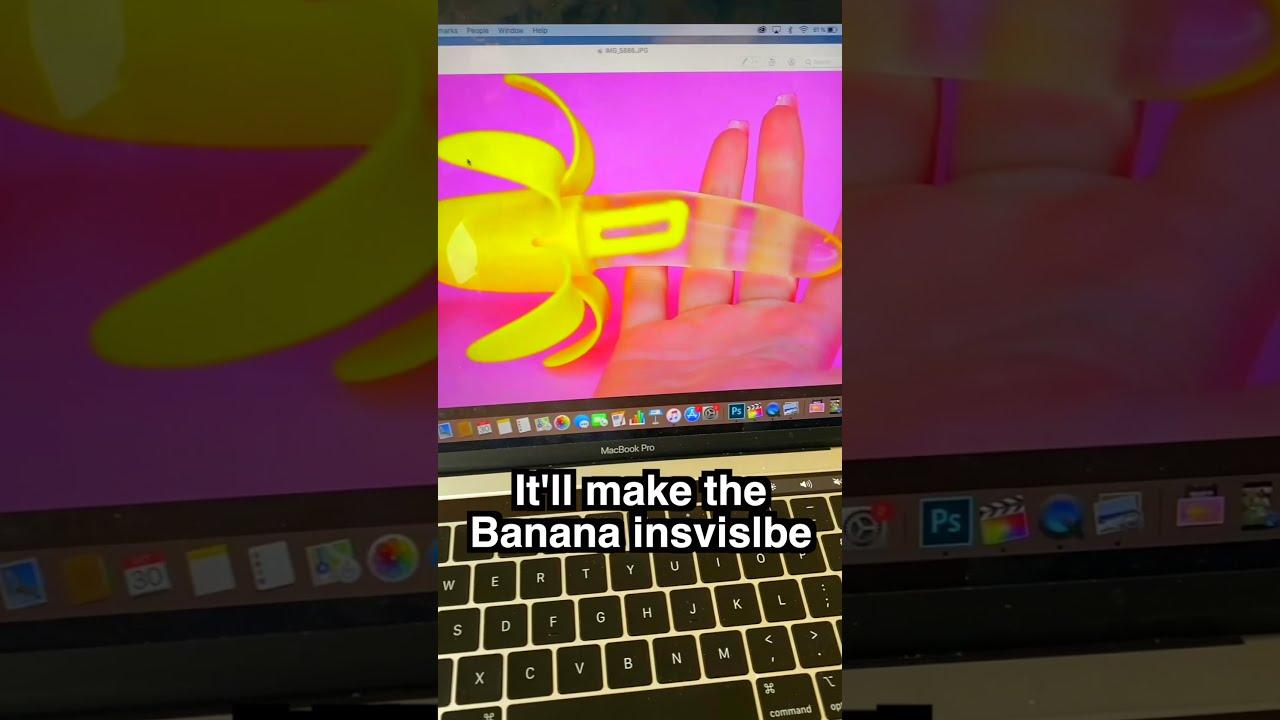 Trying To Make My Bananas Invisible? #Shorts