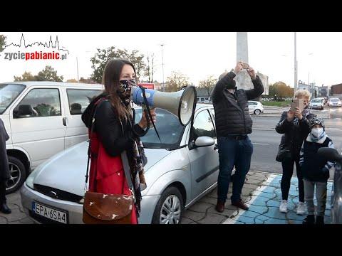 Strajk kobiet przeciw zakazowi aborcji w Pabianicach