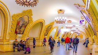 Riding Metro Line M1, Train Station To Train Stations, St. Petersburg, Russia