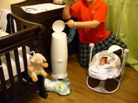 Diaper Genie Elite Review + ( How To Use & Refill ) - YouTube