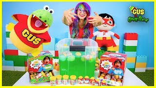 Ryan ToysReview Ryan's World Slime Baff Surprise Toys Challenge | Mystery Slime, Putty, Molekules