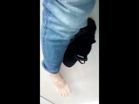 Nike Huarache with no socks