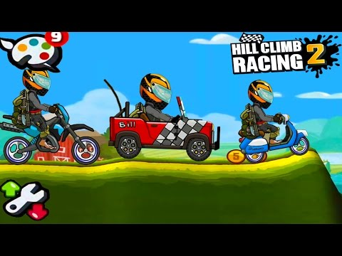 Hill Climb Racing 2 - New Paint / Jeep / Scooter / Motocross / AndroidGameplay 2017