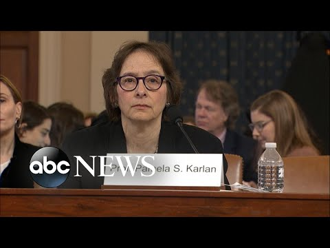 Pamela Karlan delivers opening statement at impeachment hearing l ABC NEWS