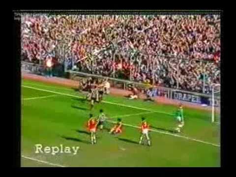 Newcastle United v Man United, 18th April 1987. Part 3  Paul Goddard Goal
