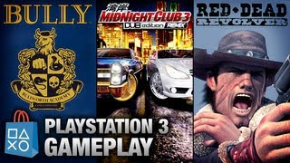 Bully / Midnight Club 3 / Red Dead Revolver - PlayStation 3 Gameplay (PSN)