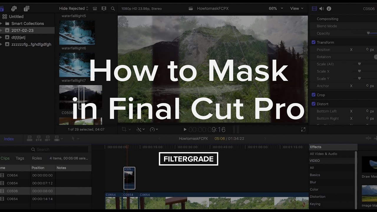 How to Mask in Final Cut Pro: Masking Techniques and Tips