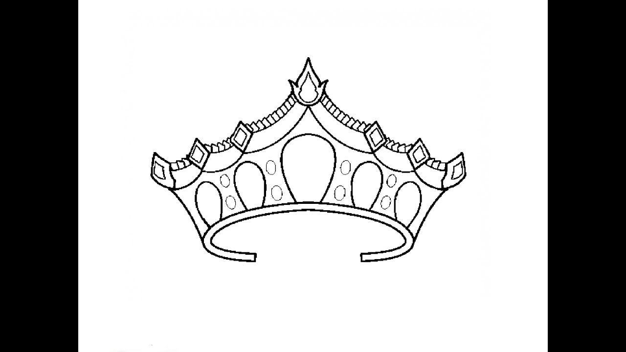how to draw a princess crown youtube
