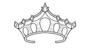 How to Draw a Princess Crown / Как нарисовать корону принцессы