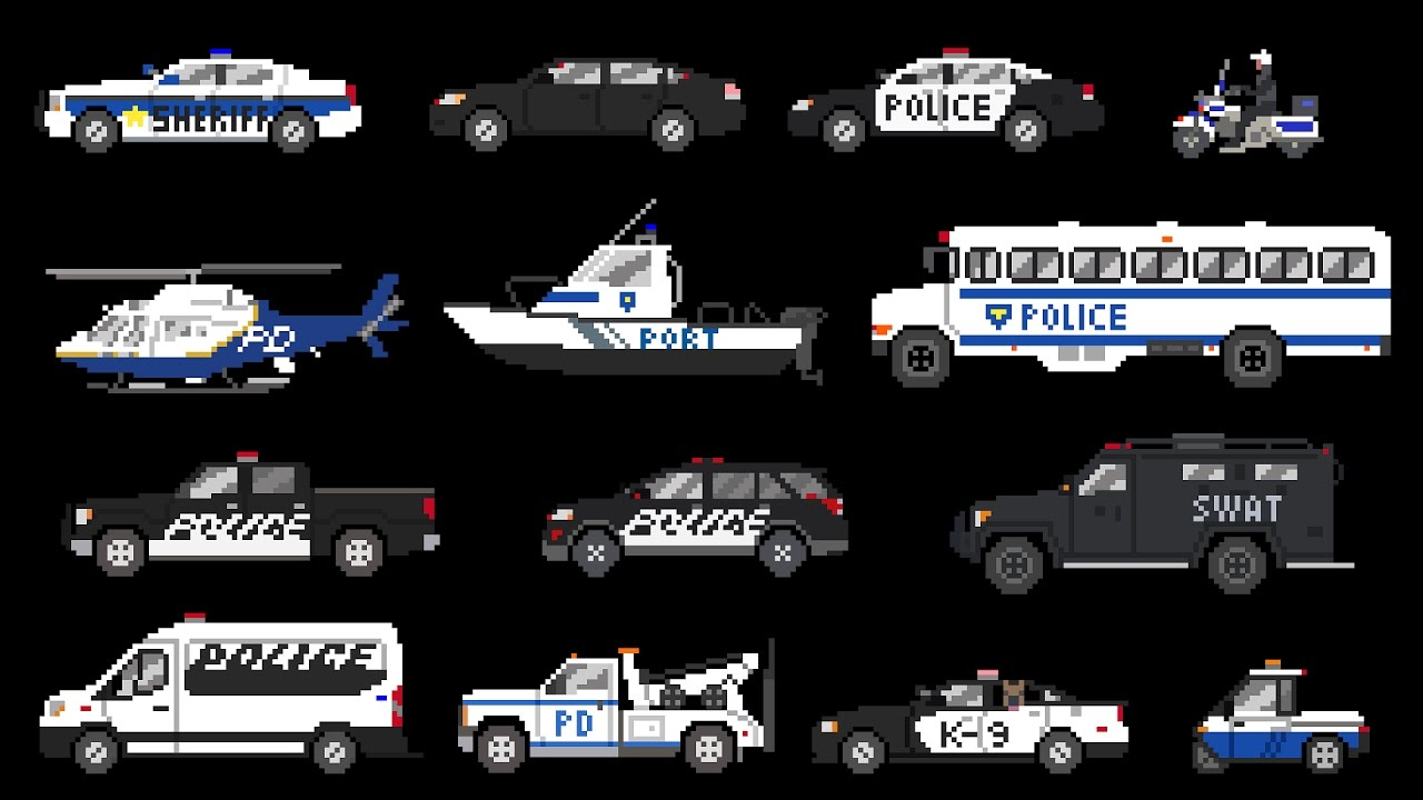 Different Types Of Cars >> Police Vehicles - Emergency Vehicles - The Kids' Picture Show (Fun & Educational Learning Video ...