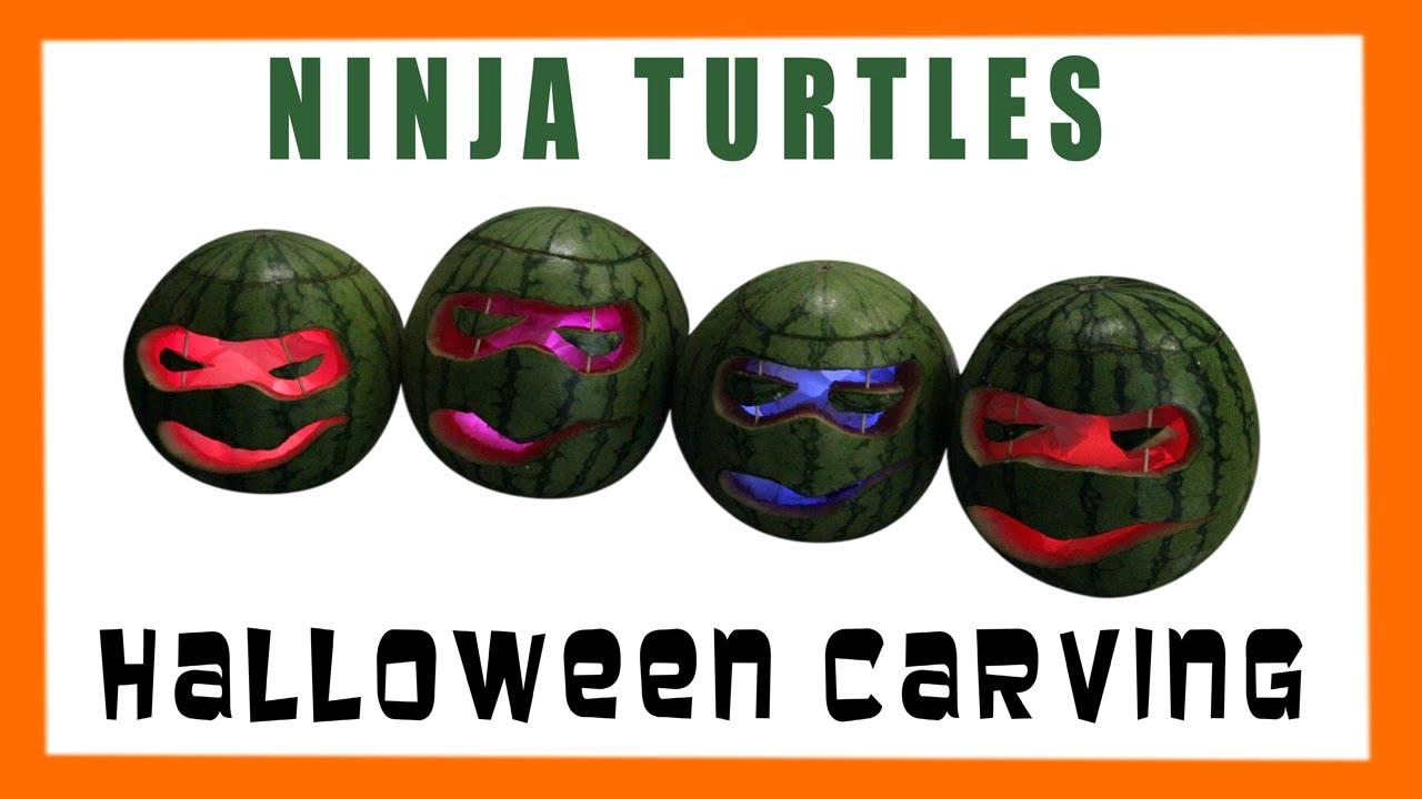 TMNT HALLOWEEN CARVING Teenage Mutant Ninja Turtles Watermelon ...