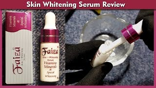 Faiza Acne Whitening Serum Review, Benefits, Uses, Price, SIde Effects   Face Fairness Serum