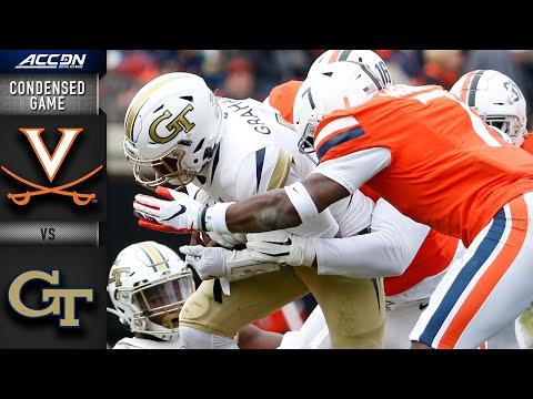 Virginia Vs. Georgia Tech Condensed Game | ACC Football 2019-20