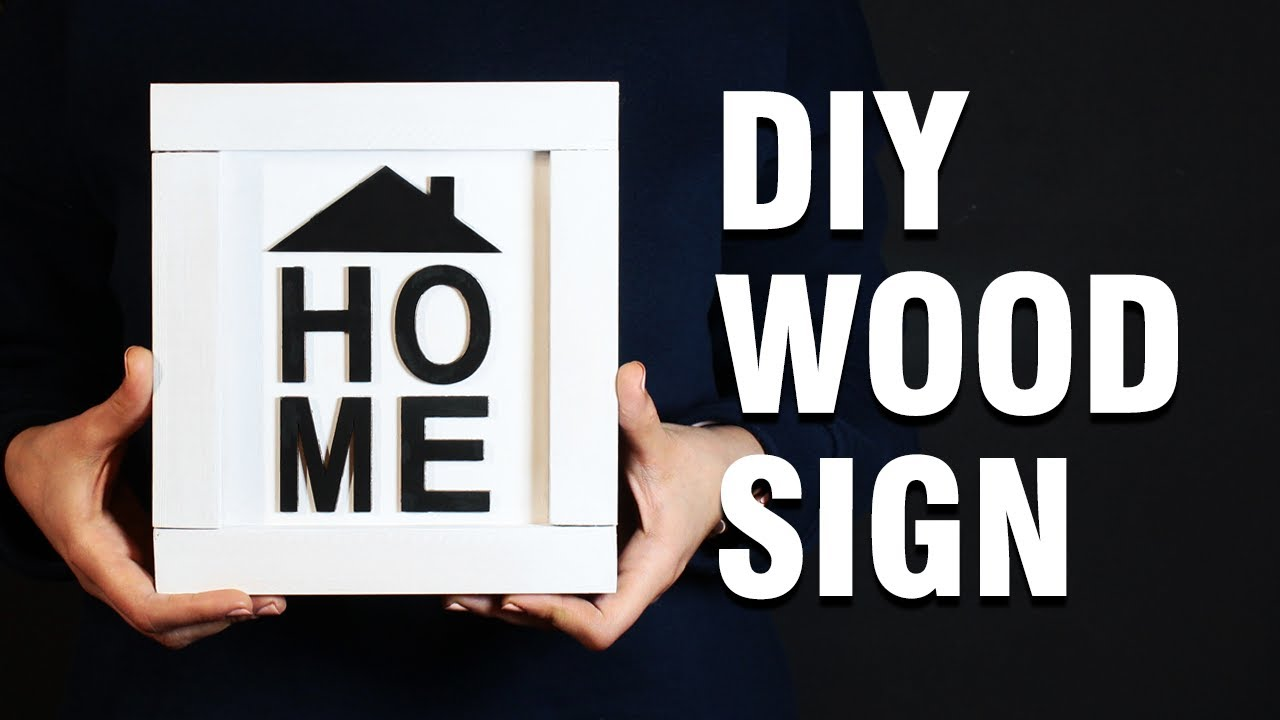 DIY Wood Sign | HOME Wood Sign