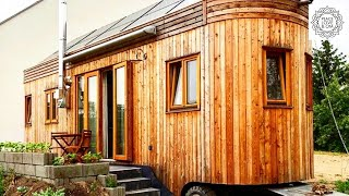Eine Nacht im Tiny House  - der autarke Wohnwagon Frieda in Brandenburg YouTube Videos