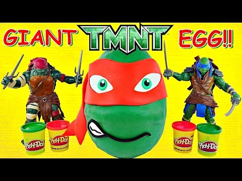 GIANT TMNT  Raphael Play Doh Surprise Egg Teenage Mutant Ninja Turtles Huevo Sorpresa