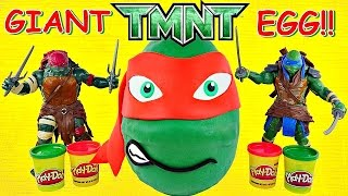 Giant TMNT Surprise Egg Play Doh Teenage Mutant Ninja Turtle Huge Raphael Huevo Sorpresa