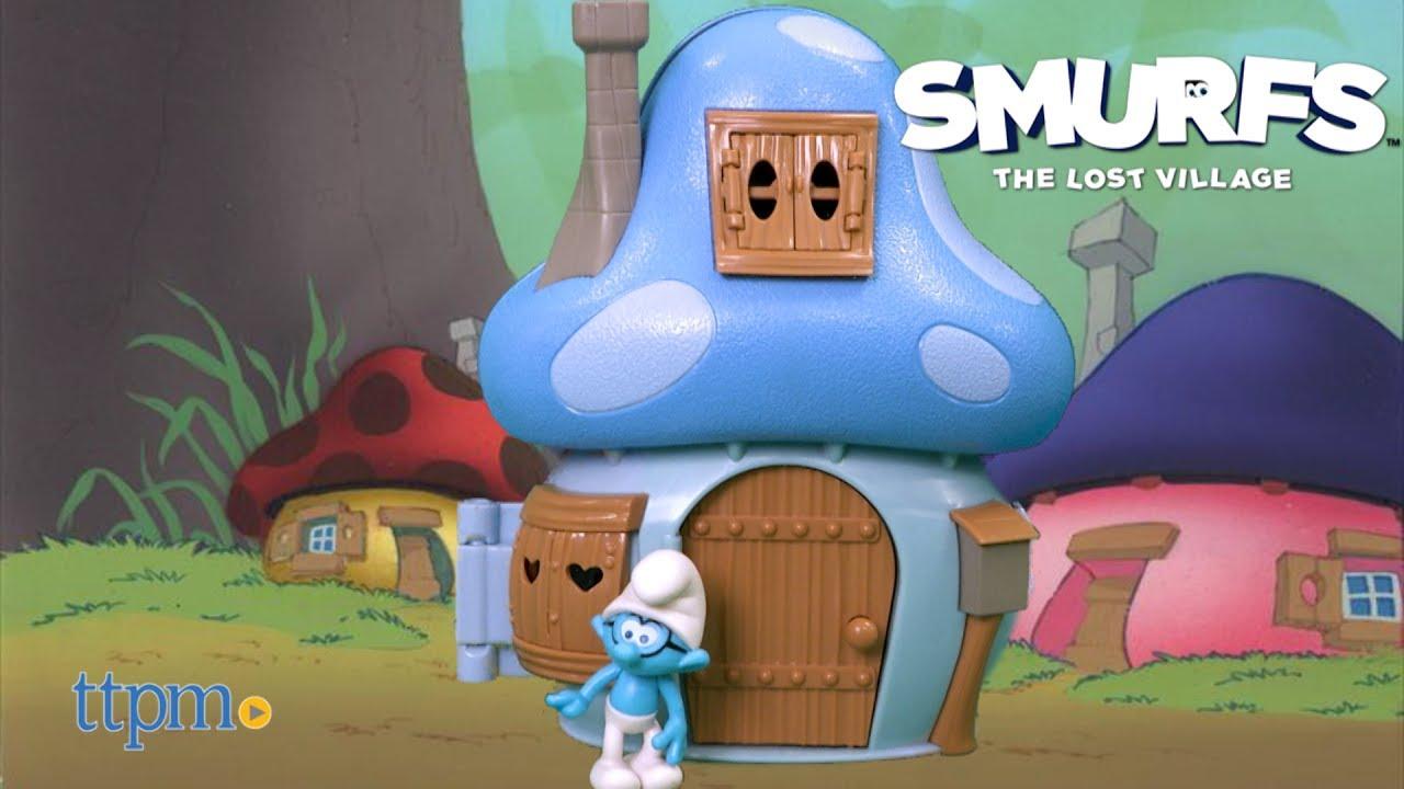 e1714d03f18 Smurfs The Lost Village Brainy's Mushroom House from Jakks Pacific