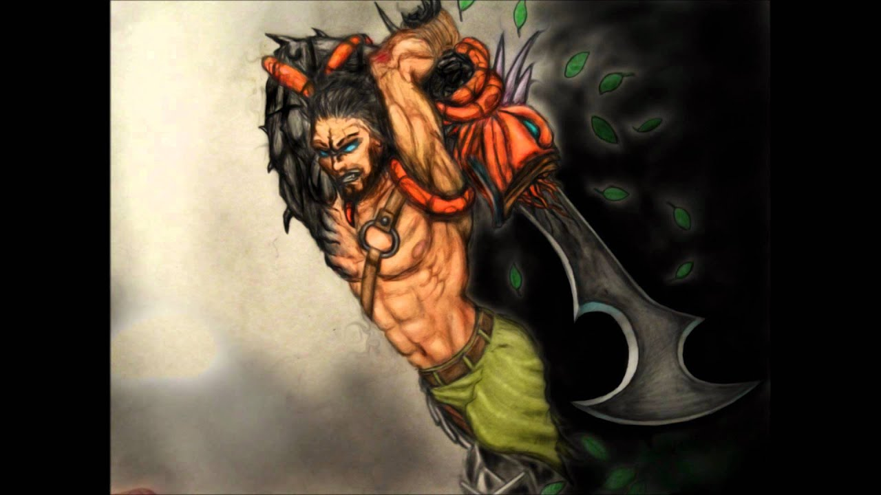 Tryndamere: Demonblade Skin fan art - YouTube