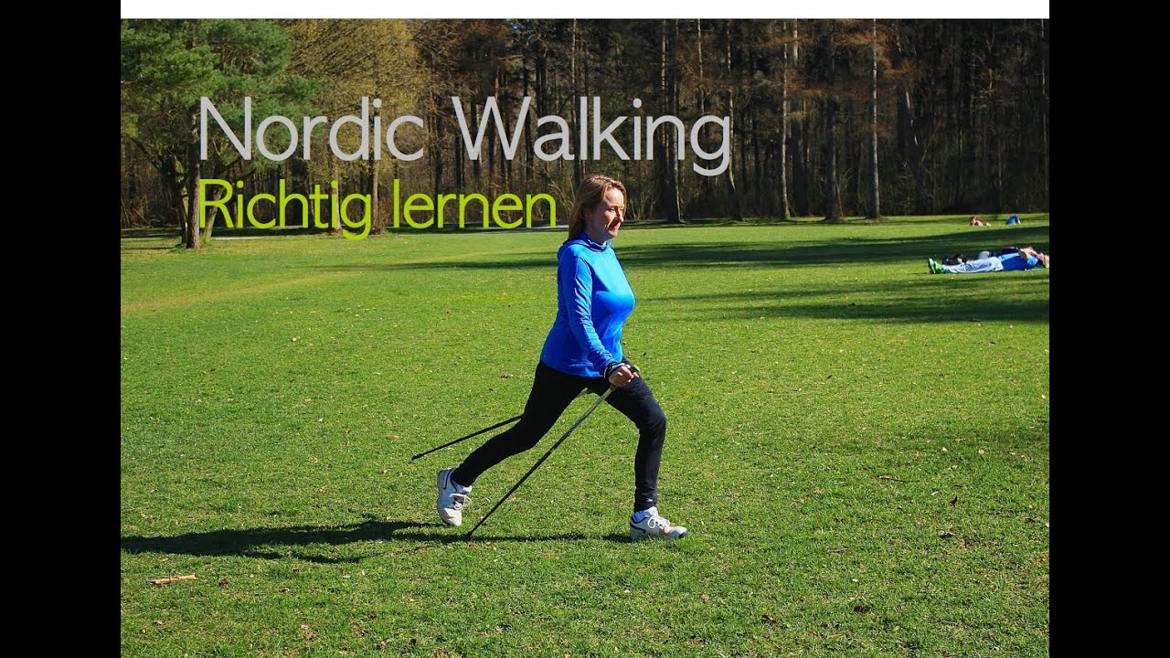 nordic walking richtig lernen youtube. Black Bedroom Furniture Sets. Home Design Ideas