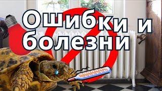 Болезни среднеазиатских черепах. Грубейшие ошибки в содержании