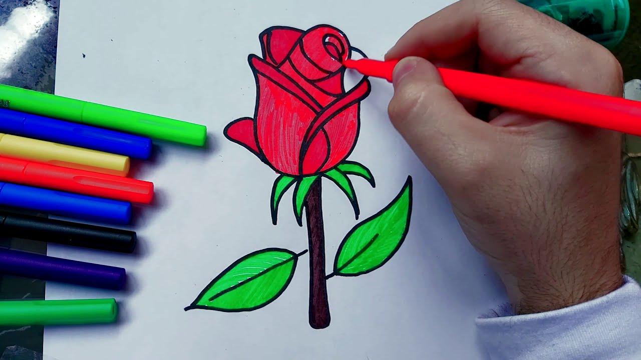 Comment Dessiner Une Fleur Facile A Dessiner Dessin De Rose Youtube