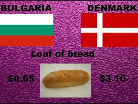 Bulgaria Vs. Denmark - Comparison According To Cost Of Livin