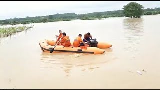 Rescue Team in Action: Dhansiri River floods in Dimapur, Nagaland.#india #floods