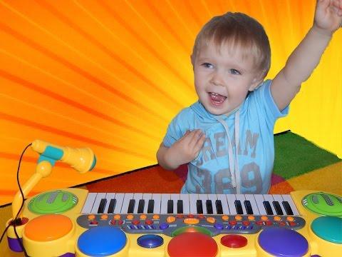 Детский синтезатор 6613 с микрофоном - YouTube
