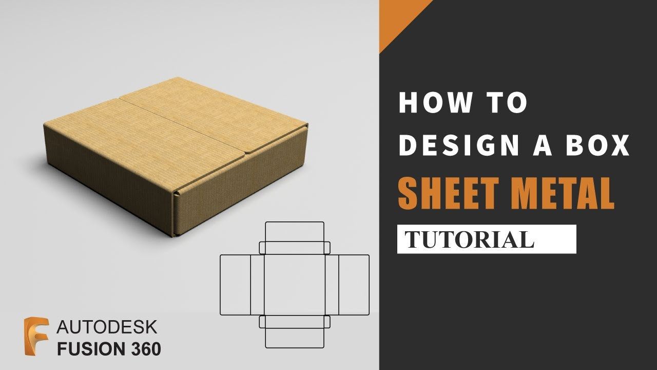 Sheet Metal Tutorial | How to design a Packaging Box in Autodesk Fusion 360 | Fusion 360 Tutorial