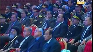 بالفيديو.. السيسي: رجال الجيش والشرطة يتلقون الرصاص بدلا من الشعب