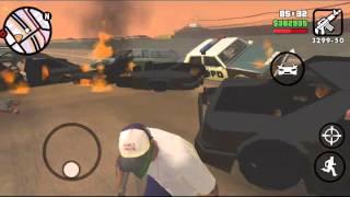 GTA San Andreas car crash highway fail