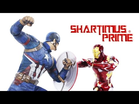 Kotobukiya Civil War Captain America and Iron Man Mark 46 ArtFX+ Movie Statue Review