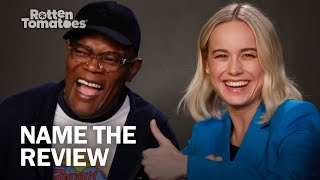 Captain Marvel's Samuel L. Jackson and Brie Larson Play