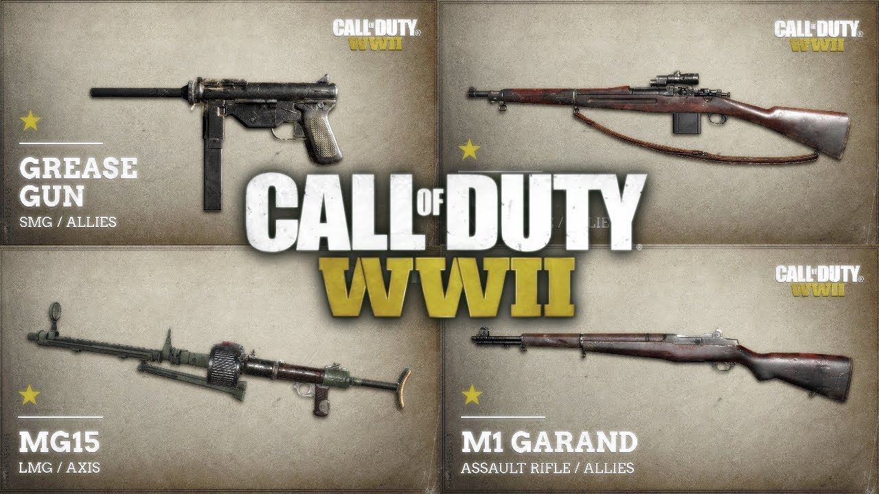 Call Of Duty World War 2 Weapon Variants Youtube