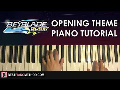 HOW TO PLAY - Beyblade Burst Evolution Opening Theme (Piano Tutorial Lesson)
