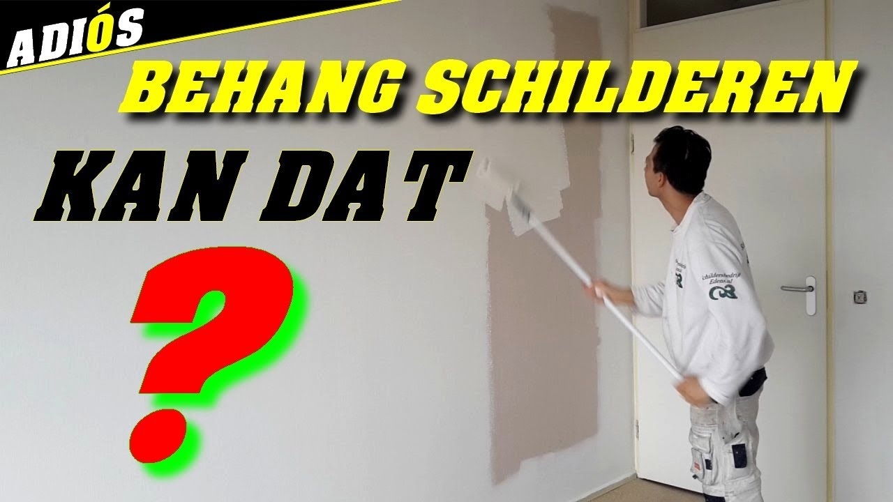 Behangen Over Vinylbehang Behang Schilderen Kun Je Over Behang Heen Verven
