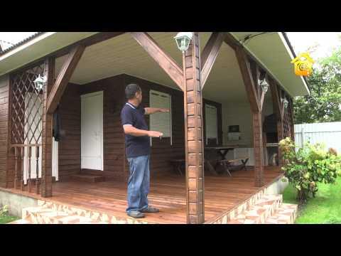 Гостевой дом с верандой для барбекю // FORUMHOUSE