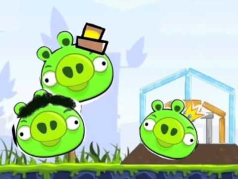 The three little pigs and the yellow angry bird youtube - Angry birds trio ...